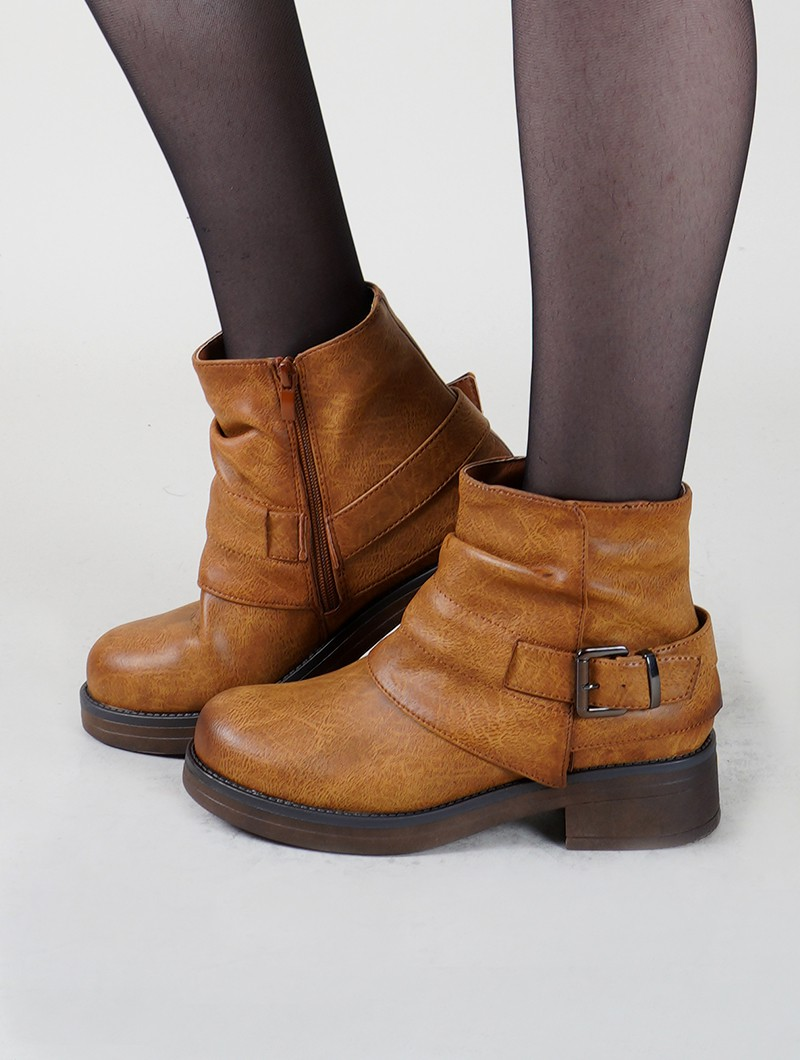 "Bottines ""Himani"", Marron camel"