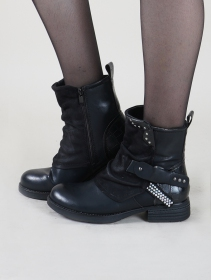 "Bottines ""Rajani"", Noir"