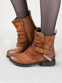 "Bottines ""Rajani"", Marron camel"
