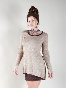 "Pull tunique ""Bohemian"", Beige"