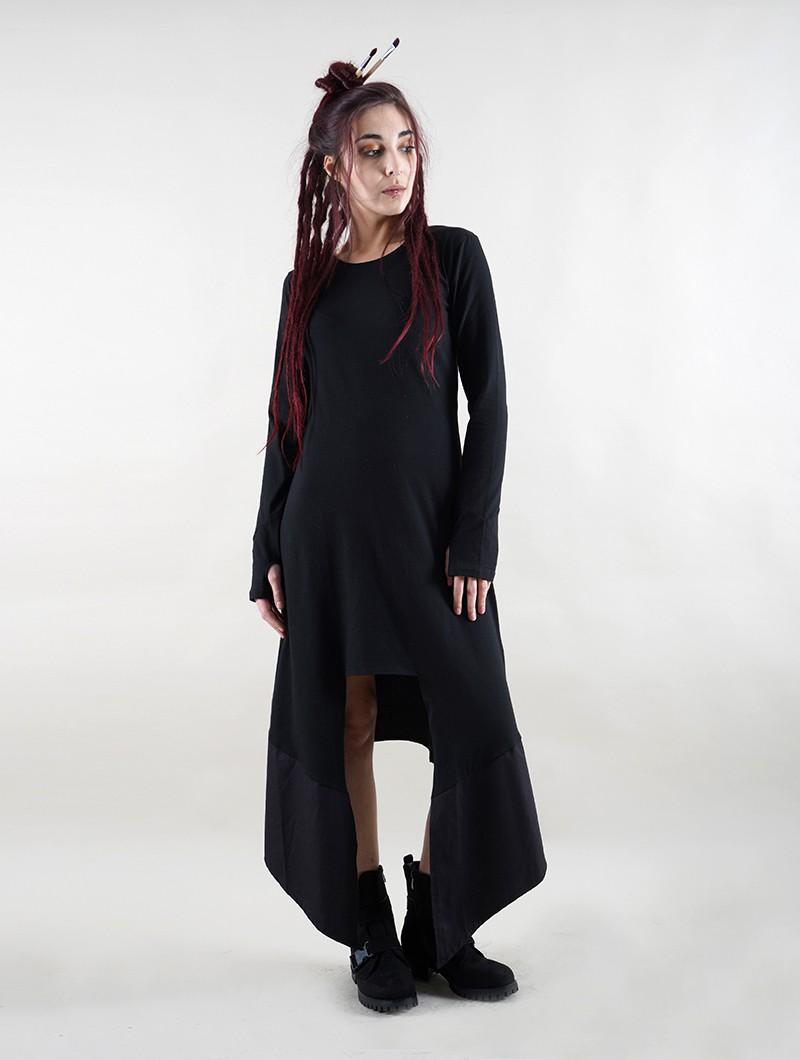 """Robe longue manche longue """"Anat"""", Noir"""