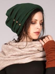 "Bonnet à perle ""Aslany"", Vert forêt"