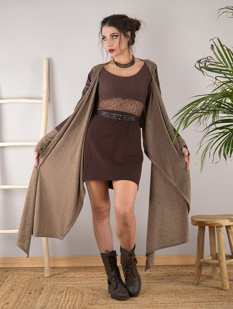 "Robe patineuse avec crochet ""Nymphea"", Marron"