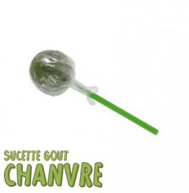 1 sucette, gout chanvre vert