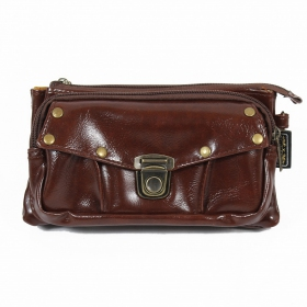 """2en1 sac à main/ceinture poche \\\""""Saagar\\\"""", Chocolat"""