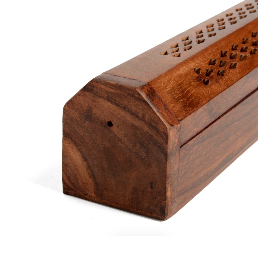 Boite porte encens en bois 30cm