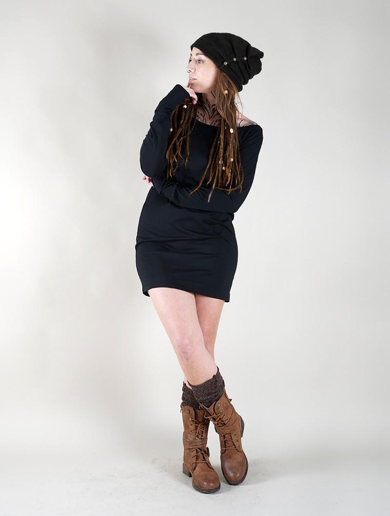 """Bonnet à perle \""""Aslany\"""", Noir"""