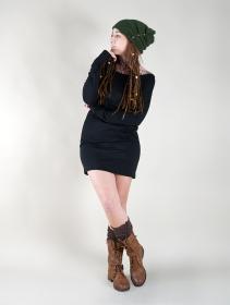 "Bonnet à perle \""Aslany\"", Vert forêt"