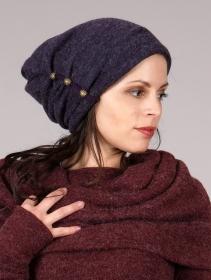 """Bonnet à perle \""""Aslany\"""", Violet"""