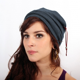 "Bonnet Psylo \\\""Turban Beanie\\\"", Gris bleuté"