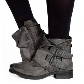 "Bottines ""Aaselia\"", Gris"