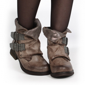 "Bottines ""Aaselia\"", Taupe"
