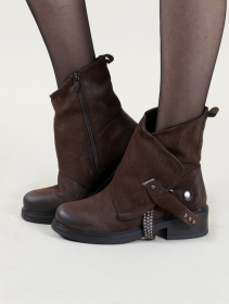 "Bottines ""Ahaan\"", Marron"