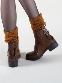 "Bottines ""Akeelha\"", Framboise"