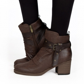 "Bottines ""Akhila\"", Marron"