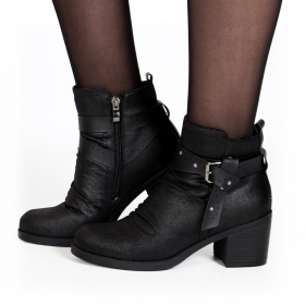 "Bottines ""Akhila\"", Noir"