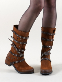 "Bottines ""Akilëra\"", Marron camel"