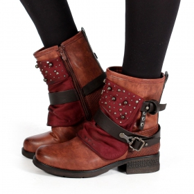 "Bottines ""Alyiah\"", Framboise"