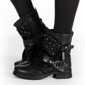 "Bottines ""Alyiah\"", Noir"