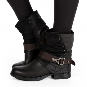 "Bottines ""Arwenn\"", Noir"