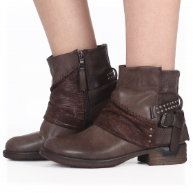 "Bottines ""Calywen\"", Marron"