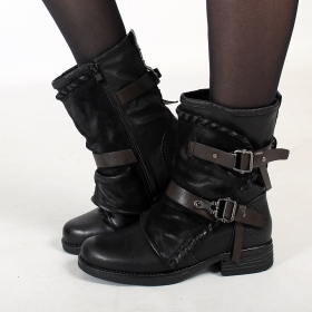 "Bottines ""Eirunn\"", Noir"