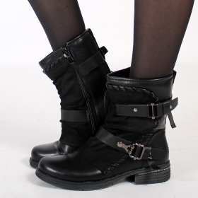"Bottines \""Eivor\\\"", Noir"
