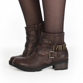 "Bottines ""Eryzz\"", Marron"
