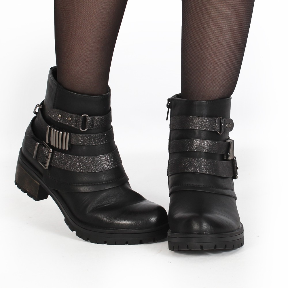 "Bottines ""Eryzz\"", Noir"