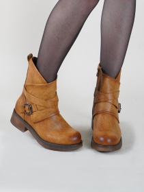 "Bottines ""Hafsana\"", Marron camel"