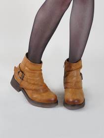 "Bottines ""Himani\"", Marron camel"