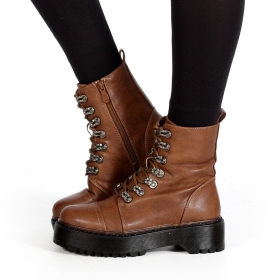 "Bottines ""Inaaya\"", Marron camel"