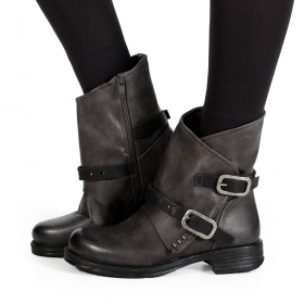 "Bottines ""Jawahar\"", Gris"