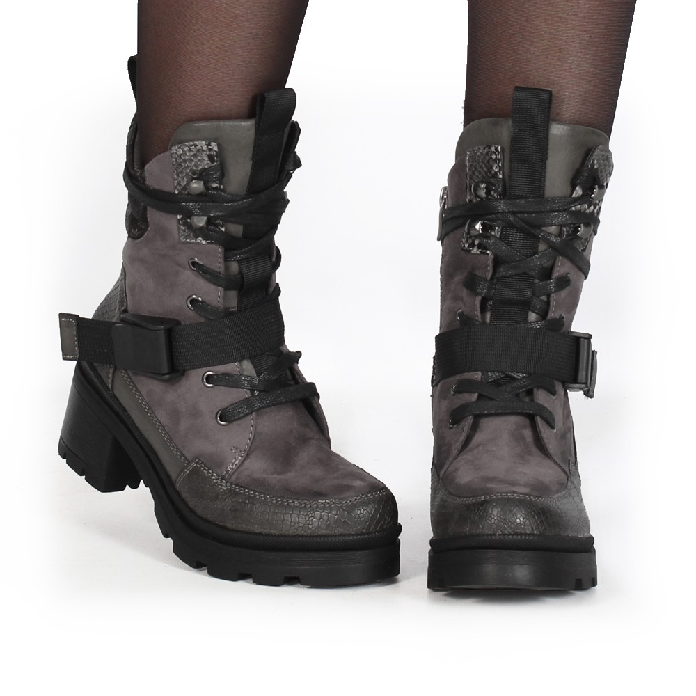 "Bottines ""Jiloh\"", Gris"