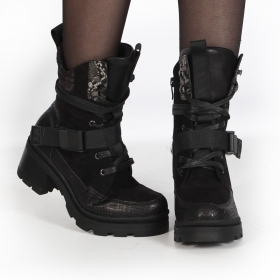 "Bottines ""Jiloh\"", Noir"