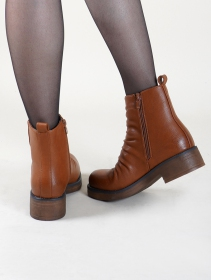 "Bottines ""Keertana\"", Marron camel"