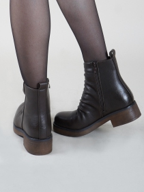 "Bottines ""Keertana\"", Marron"