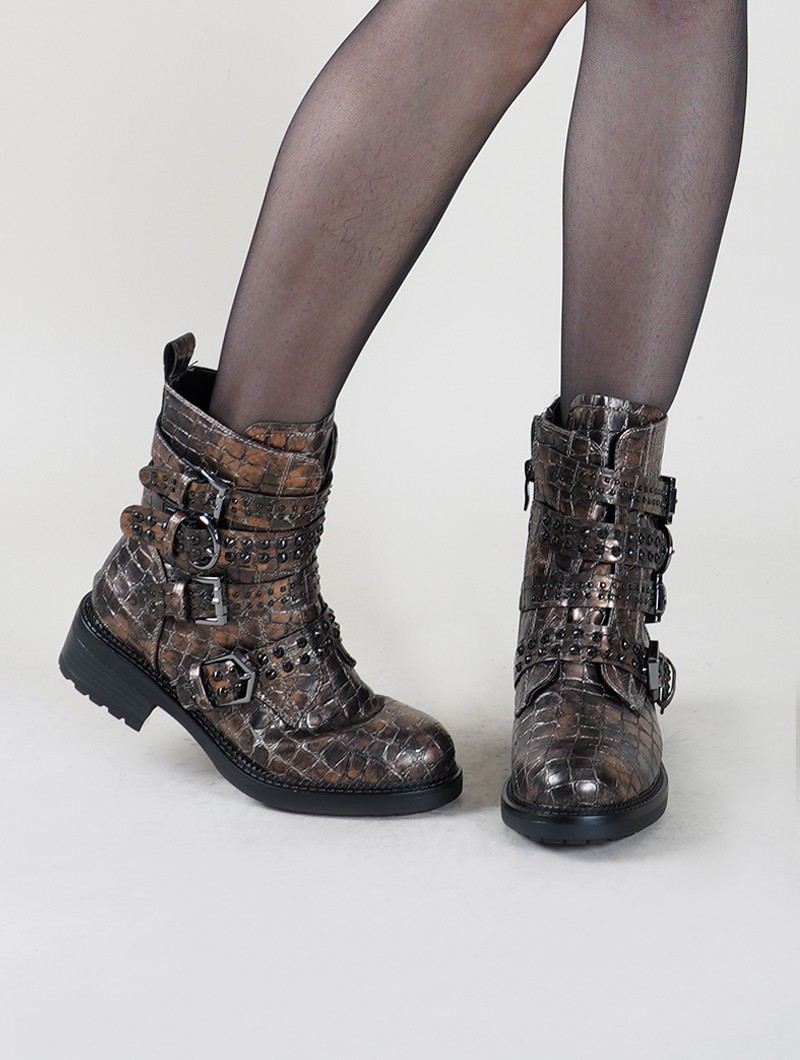 "Bottines ""Kokila\"", Marron"