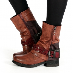 "Bottines ""Lyssana\"", Framboise"