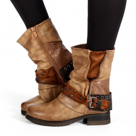 "Bottines ""Lyssana\"", Marron camel"