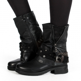 "Bottines ""Lyssana\"", Noir"