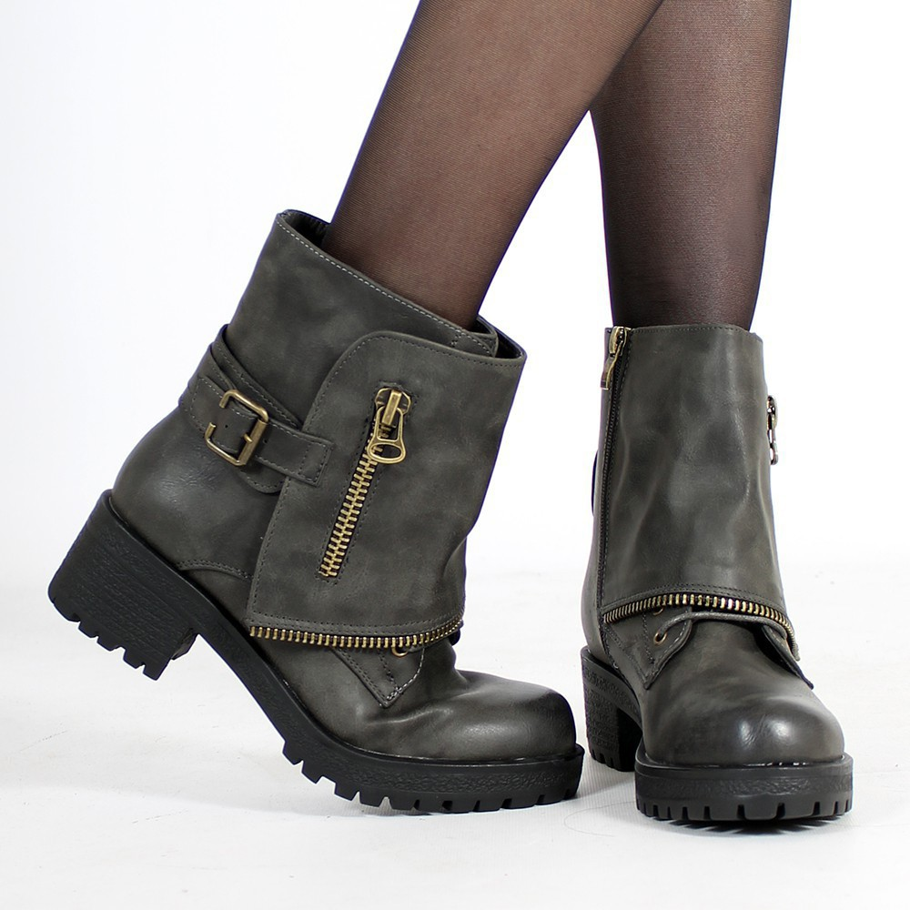 "Bottines \""Malaya\\\"", Gris"