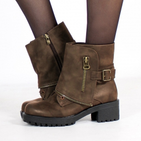 "Bottines ""Malaya\"", Marron"