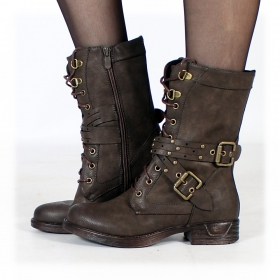 "Bottines ""Menaka\"", Marron foncé"
