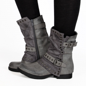 "Bottines ""Morwën\"", Gris"