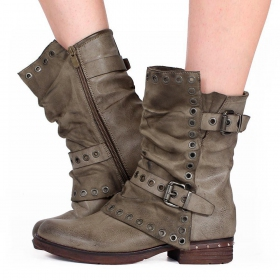 "Bottines ""Morwën\"", Taupe"
