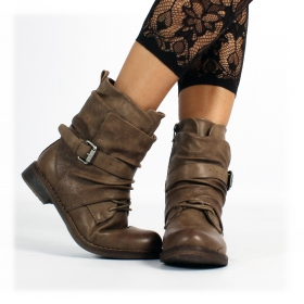 "Bottines ""Nandini\"", Taupe"