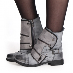 "Bottines ""Näoli\"", Gris"