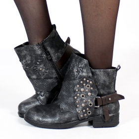 "Bottines ""Olimani\"", Noir"