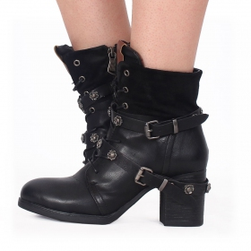 "Bottines ""Olwë\"", Noir"